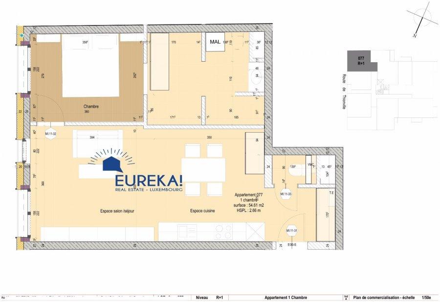 Appartement en vente luxembourg centre ville 54 m for Acheter un appartement en construction