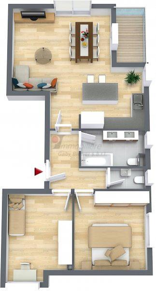 acheter appartement 2 chambres 73.87 m² lieler photo 1