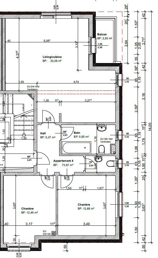 acheter appartement 2 chambres 73.87 m² lieler photo 2