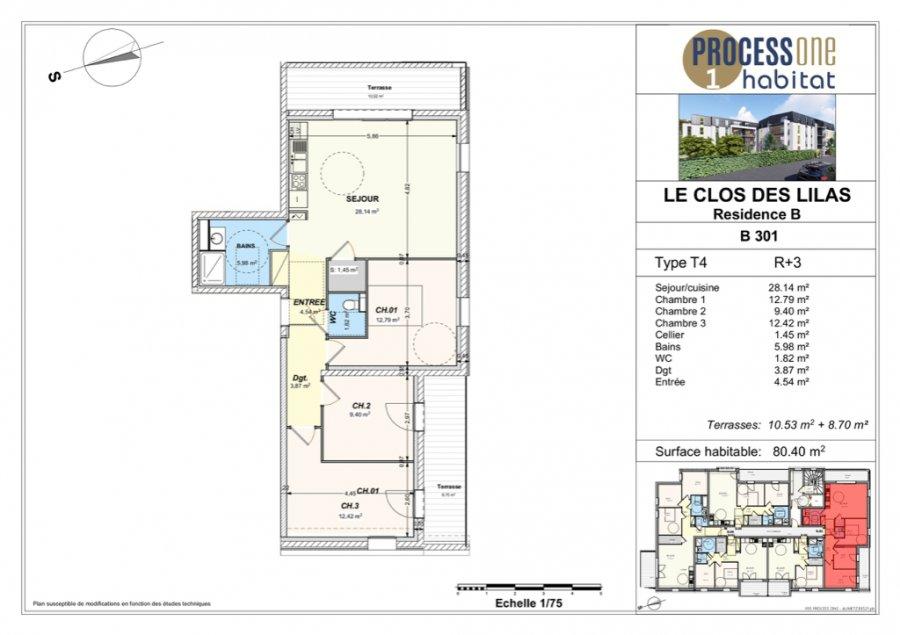 acheter appartement 4 pièces 80.4 m² aumetz photo 1
