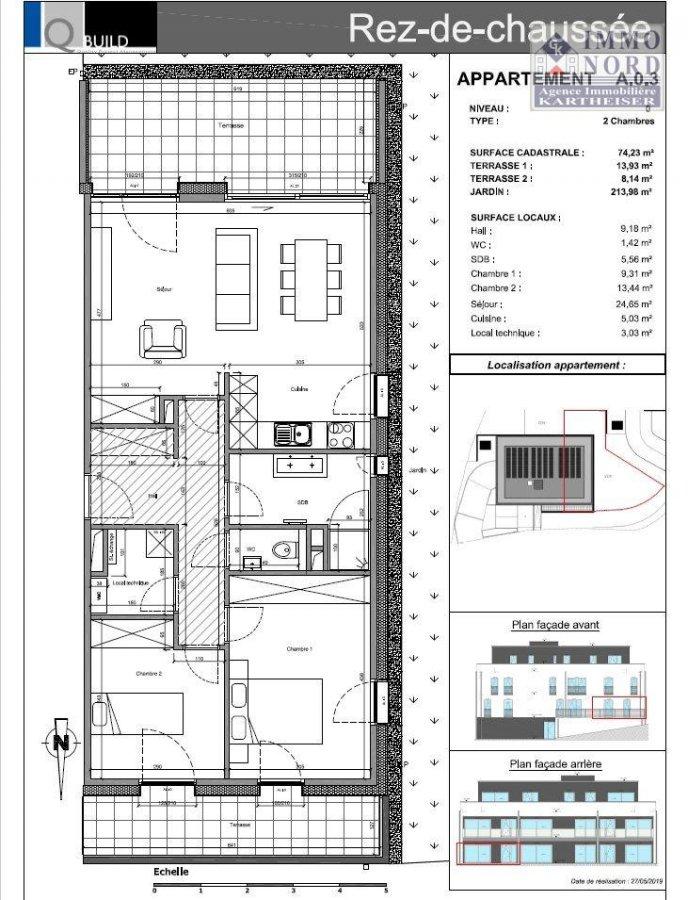 acheter appartement 2 chambres 74.23 m² binsfeld photo 5