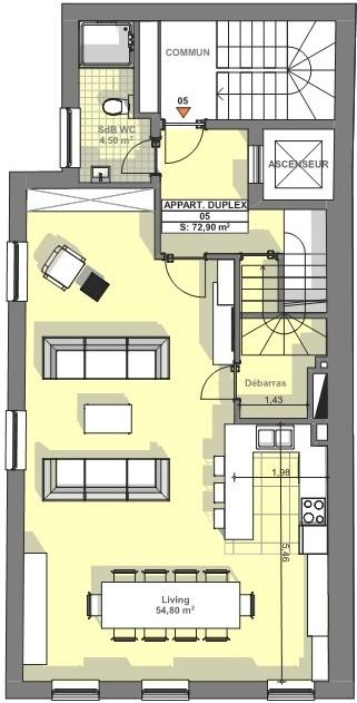 acheter duplex 3 chambres 145 m² luxembourg photo 3