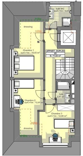 acheter duplex 3 chambres 145 m² luxembourg photo 4