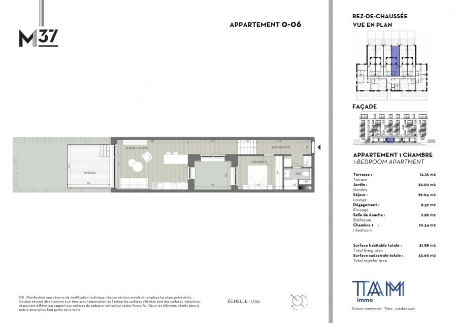 acheter appartement 1 chambre 51.88 m² luxembourg photo 2