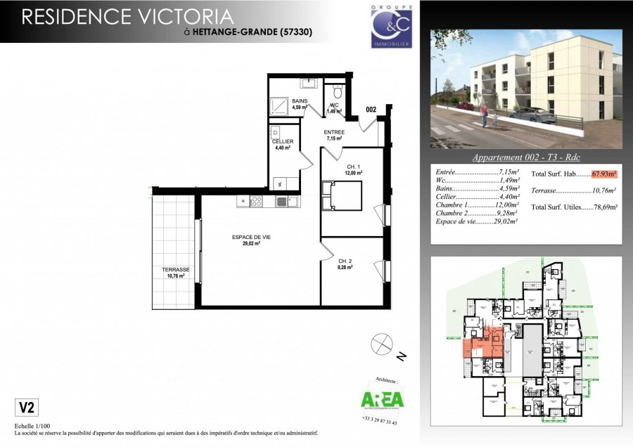 acheter appartement 3 pièces 67.52 m² hettange-grande photo 3