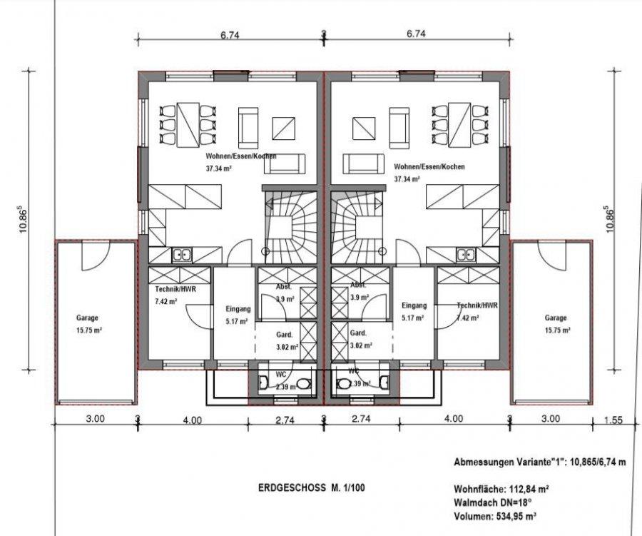 doppelhaushälfte kaufen 5 zimmer 112 m² merzig foto 3
