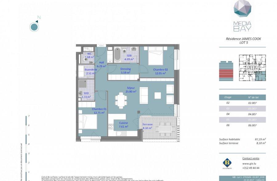 wohnung kaufen 2 schlafzimmer 87.19 m² luxembourg foto 4