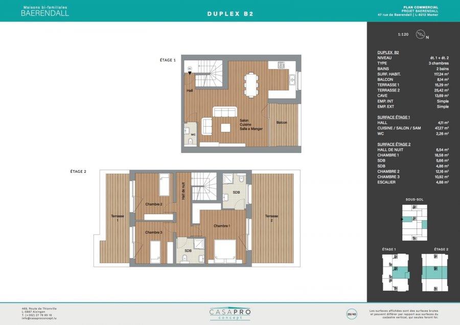acheter duplex 3 chambres 117 m² mamer photo 6