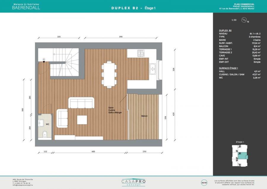 acheter duplex 3 chambres 117 m² mamer photo 7