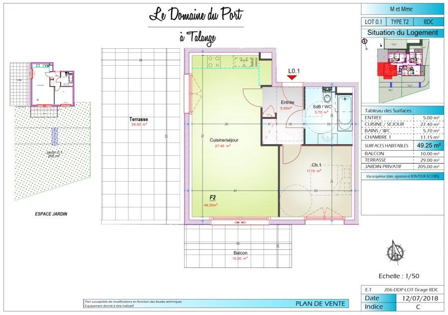 acheter appartement 2 pièces 49.25 m² talange photo 3