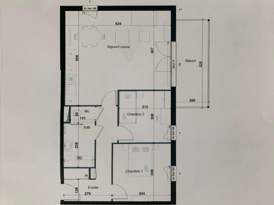 Appartement à vendre F3 à Herserange