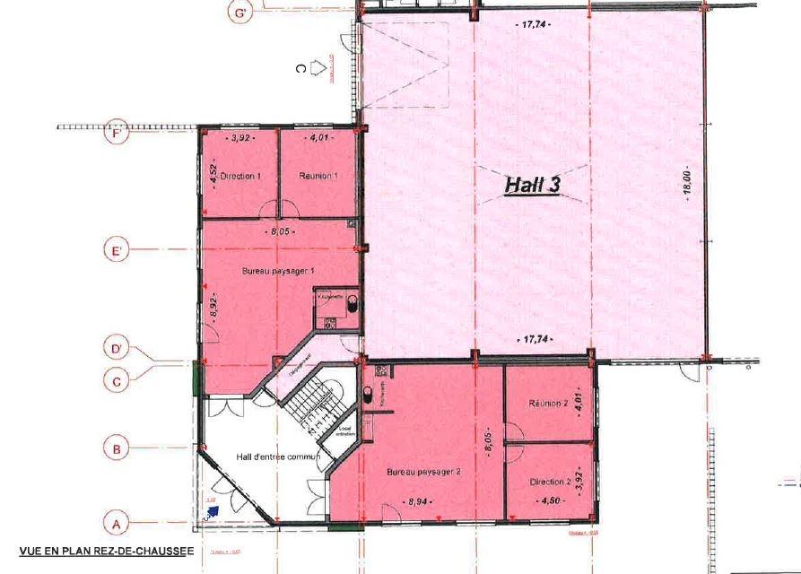 louer bureau 0 chambre 427.94 m² bascharage photo 3