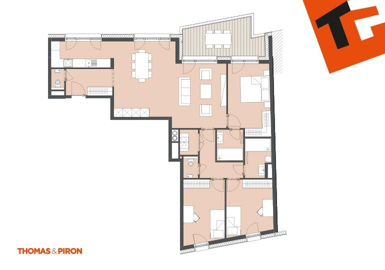apartment for buy 3 bedrooms 112.8 m² schifflange photo 2
