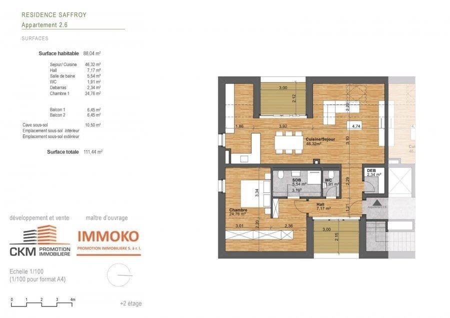 acheter appartement 1 chambre 88.04 m² beaufort photo 3