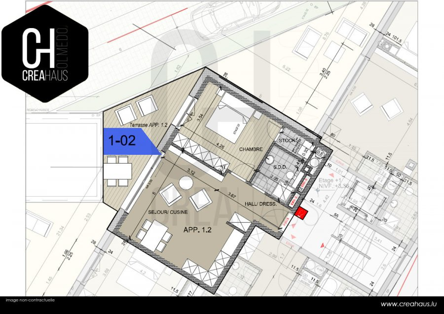 acheter appartement 1 chambre 51.73 m² mamer photo 2