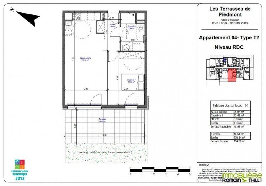 acheter appartement 2 pièces 48.92 m² mont-saint-martin photo 3