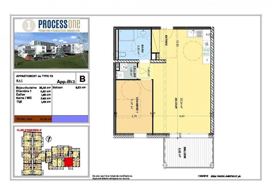 acheter appartement 2 pièces 55.98 m² amnéville photo 1