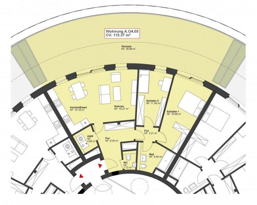 wohnung kaufen 2 schlafzimmer 115.37 m² wasserbillig foto 1