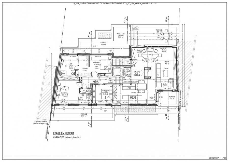 Penthouse à vendre 3 chambres à Rodange