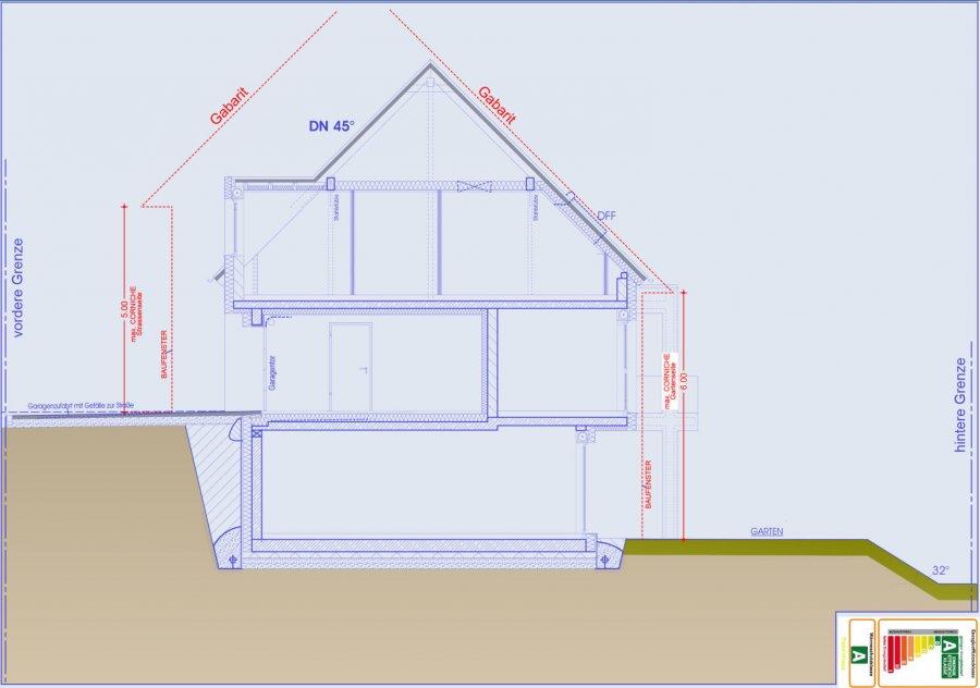 Maison mitoyenne à vendre 4 chambres à Useldange