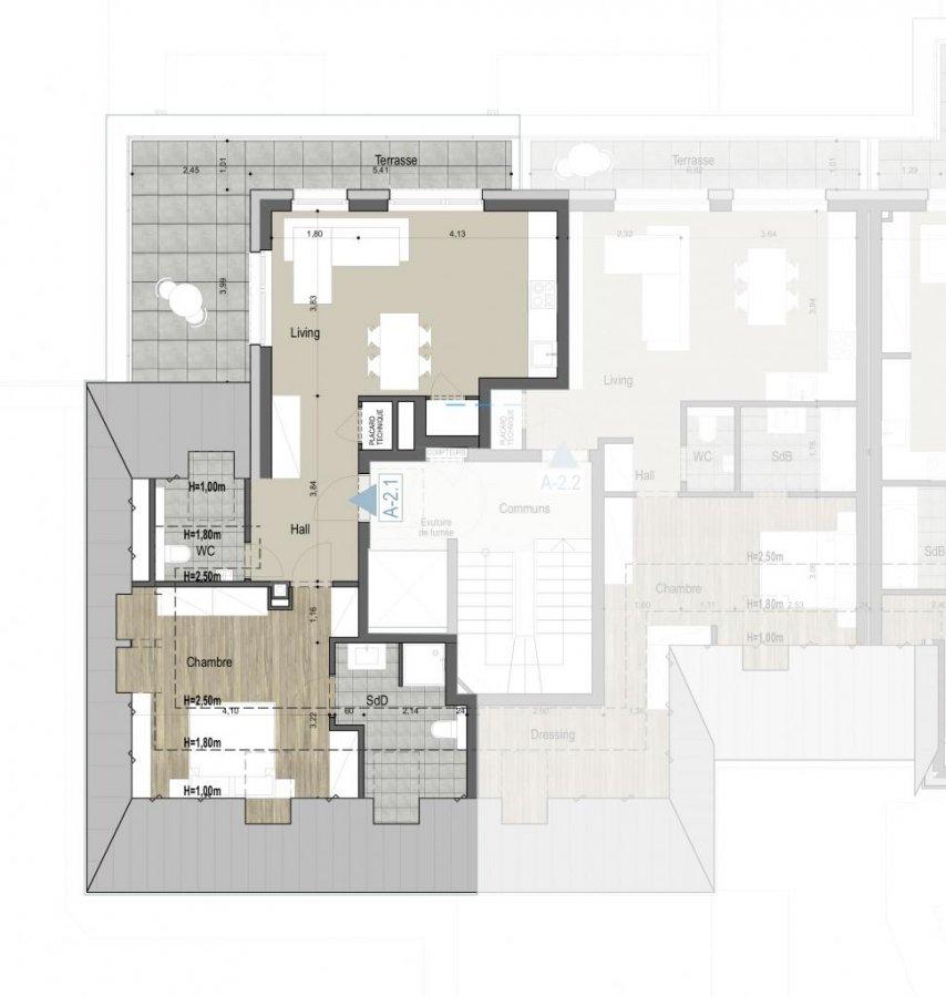 acheter penthouse 1 chambre 47 m² kehlen photo 4