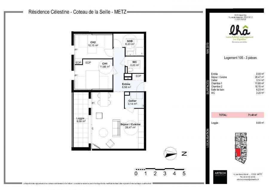 acheter appartement 3 pièces 71.4 m² metz photo 3