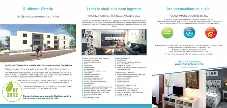 acheter appartement 3 pièces 63.95 m² hettange-grande photo 4