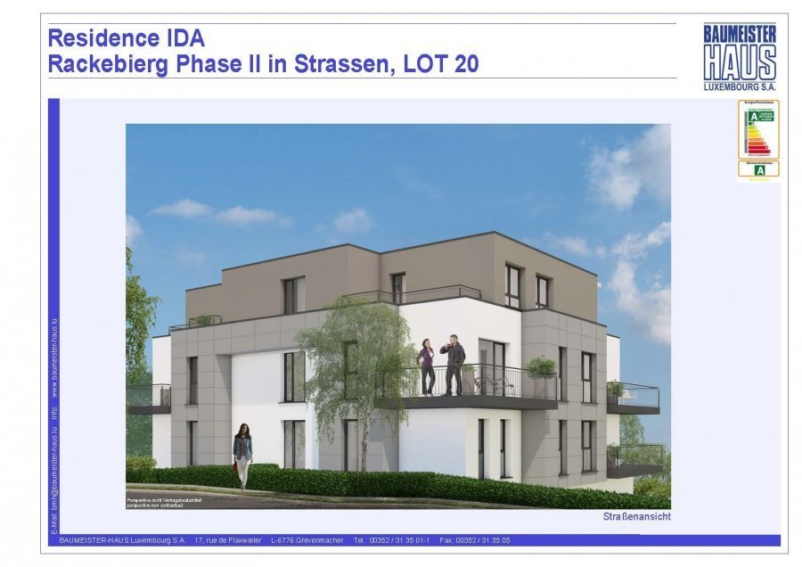 acheter appartement 2 chambres 94.55 m² strassen photo 1