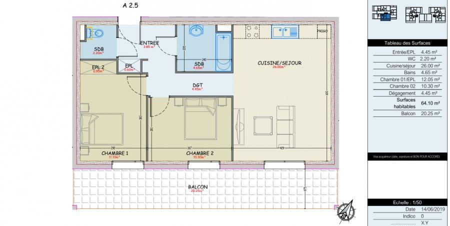 acheter appartement 3 pièces 64.1 m² woippy photo 2