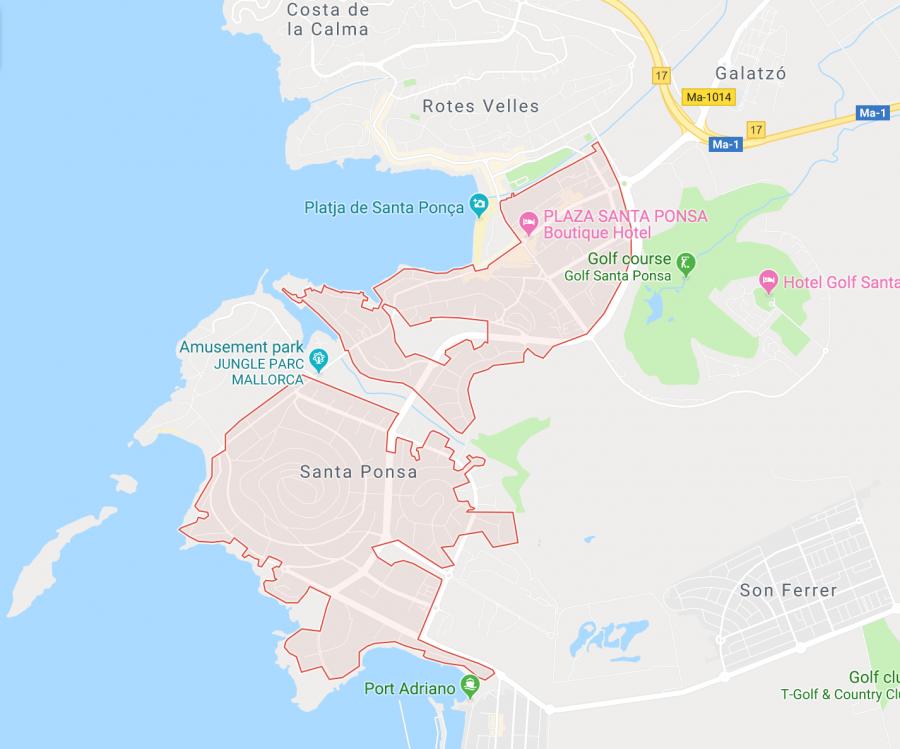 Terrain constructible à vendre à Santa Ponça (Mallorca)