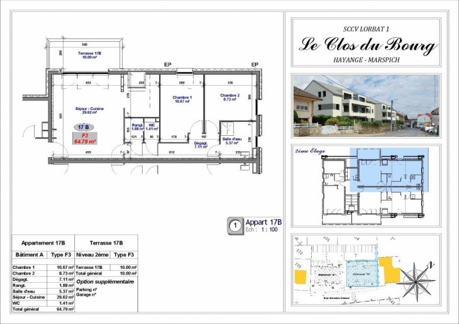 acheter appartement 3 pièces 64.8 m² hayange photo 2