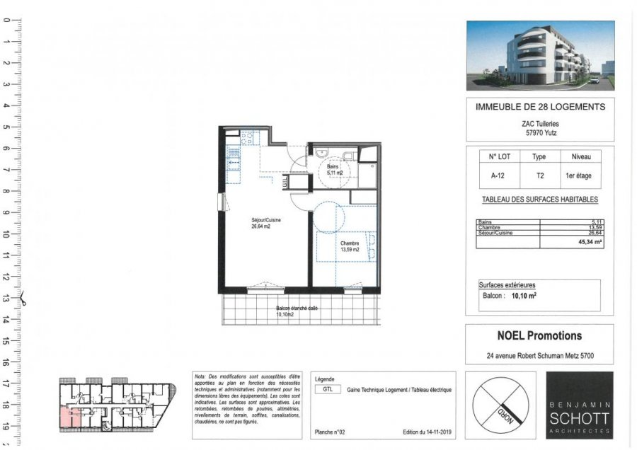 acheter appartement 2 pièces 51 m² yutz photo 1