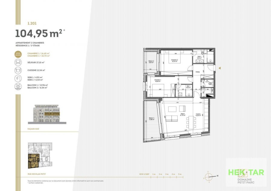 acheter appartement 2 chambres 104.95 m² luxembourg photo 7