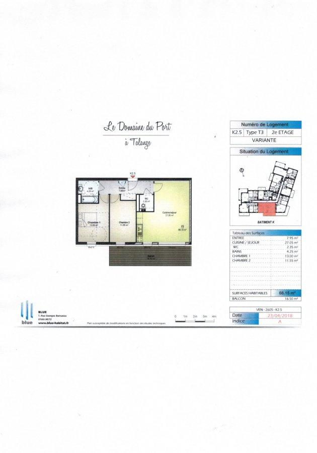 acheter appartement 3 pièces 66.15 m² talange photo 4