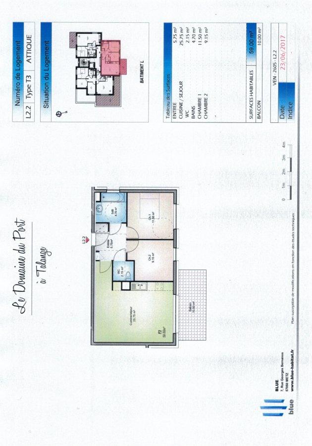 acheter appartement 3 pièces 59 m² talange photo 4