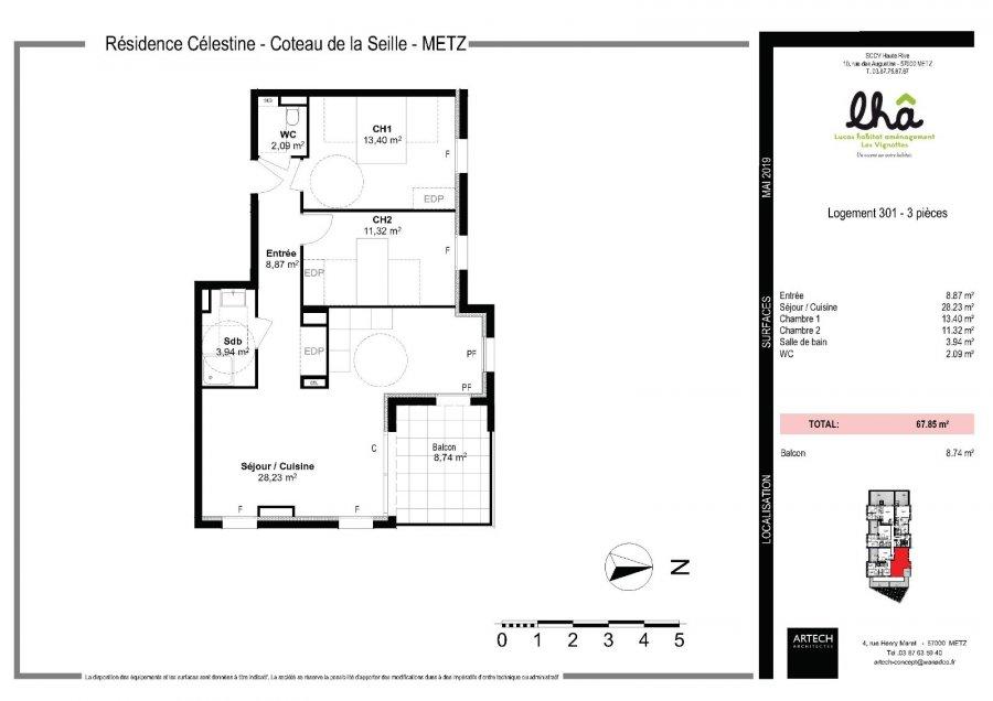 acheter appartement 3 pièces 67.85 m² metz photo 4