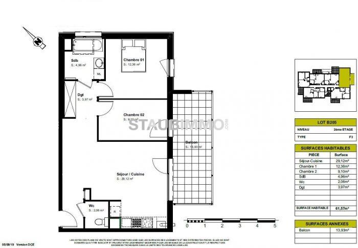 acheter appartement 3 pièces 61 m² blotzheim photo 3
