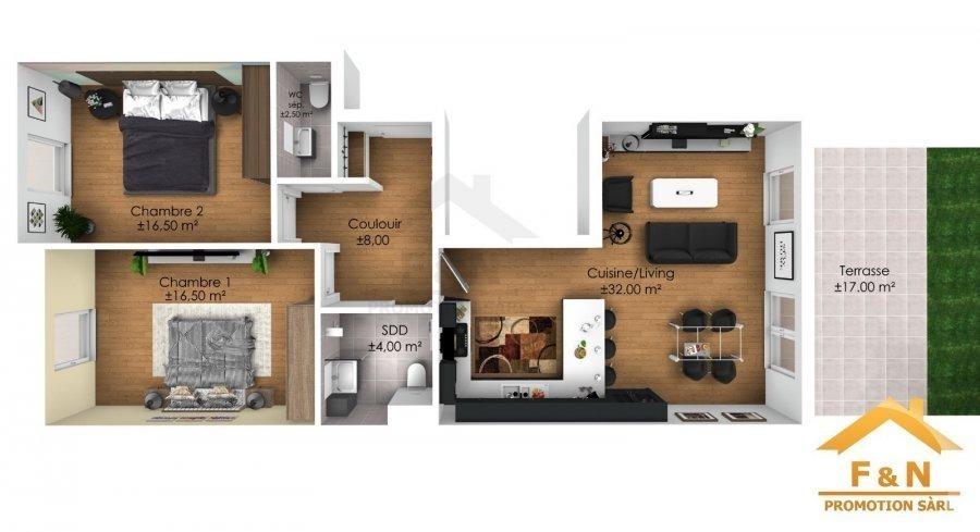 acheter appartement 2 chambres 80.38 m² boevange-sur-attert photo 3