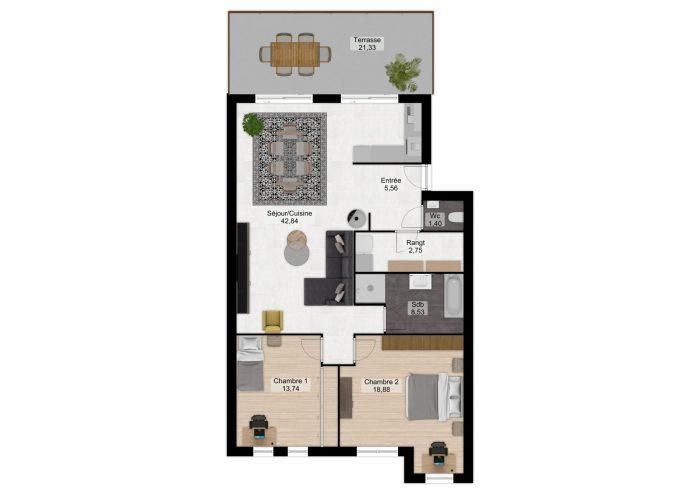 acheter appartement 4 pièces 94 m² thionville photo 3
