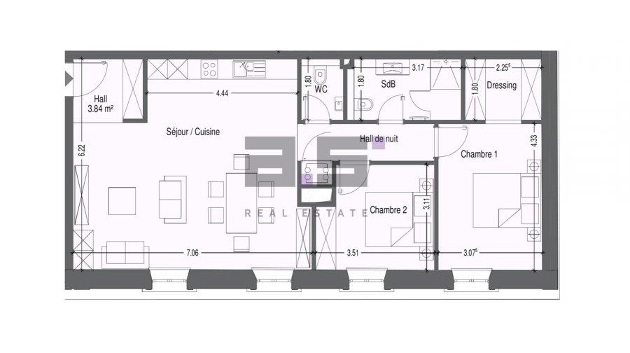 acheter appartement 2 chambres 85.41 m² mondercange photo 7