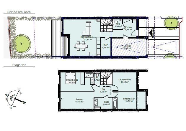 reihenhaus kaufen 5 zimmer 118.54 m² thionville foto 2