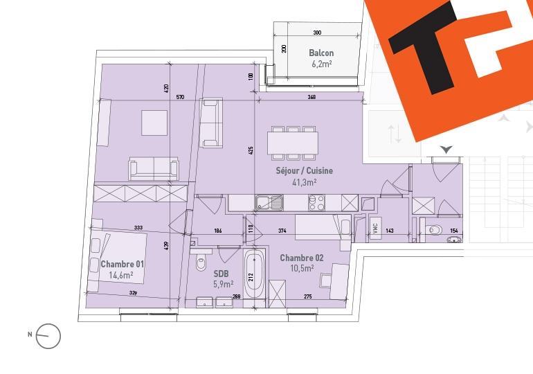 acheter appartement 2 chambres 87.2 m² bertrange photo 2