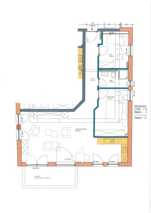 wohnung mieten 3 zimmer 75.37 m² langsur foto 3