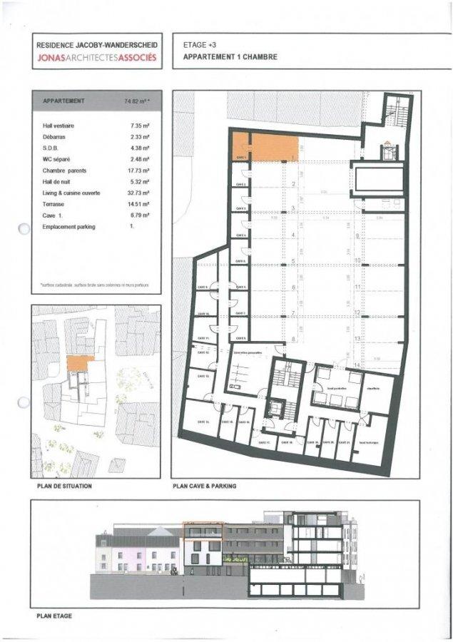 acheter appartement 1 chambre 74.82 m² ettelbruck photo 3