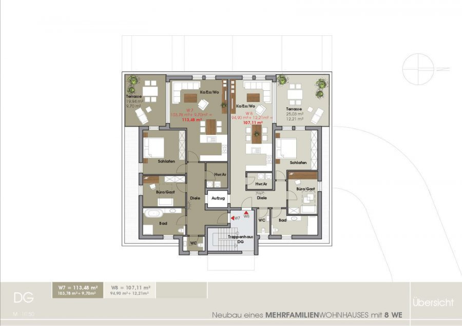 penthouse-wohnung kaufen 3 zimmer 115.99 m² tawern foto 4