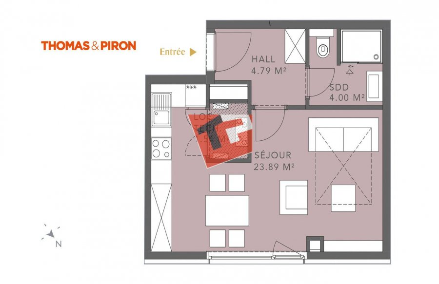 acheter studio 0 chambre 35.2 m² luxembourg photo 1