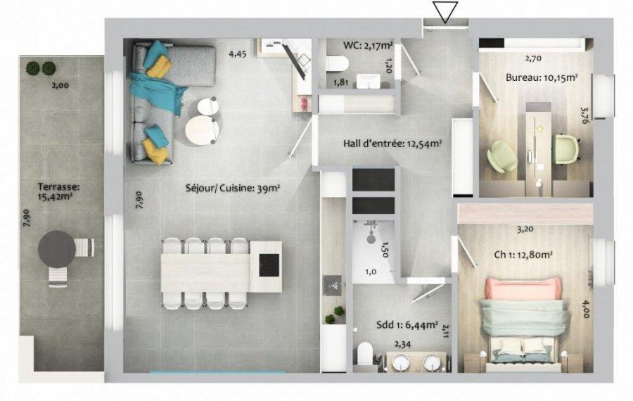 acheter appartement 1 chambre 86.66 m² ettelbruck photo 4