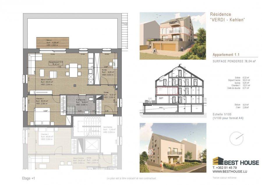acheter appartement 2 chambres 78 m² kehlen photo 3