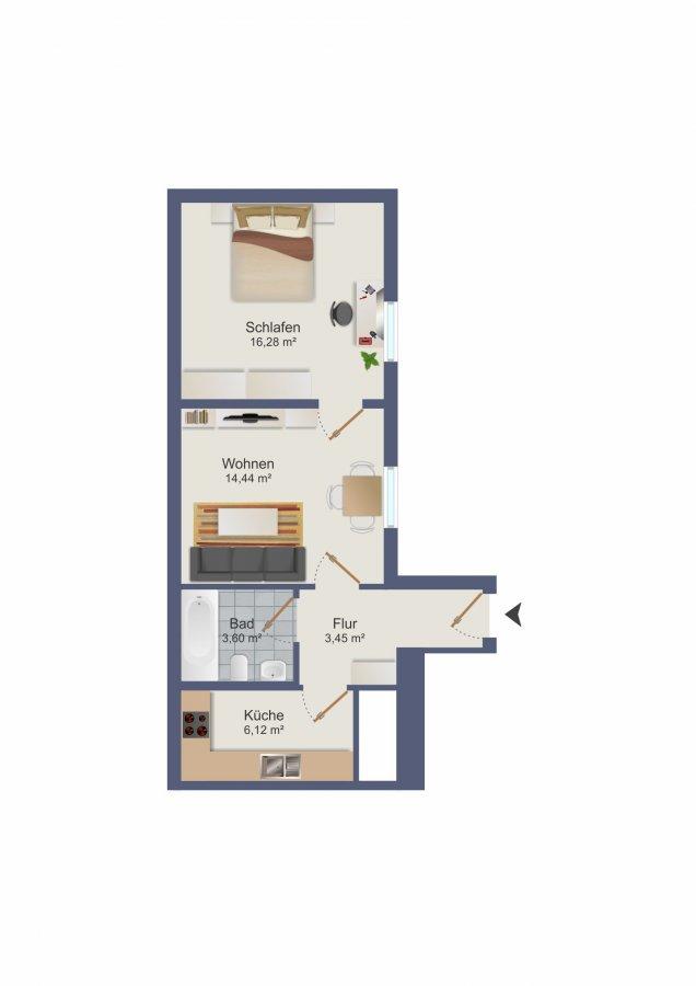 wohnung kaufen 2 zimmer 46.09 m² trier foto 2