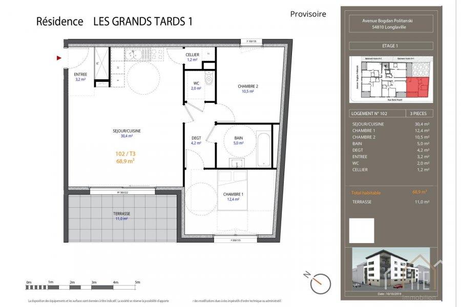 acheter appartement 0 pièce 68.9 m² longlaville photo 1
